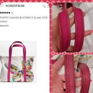 COACH POPPY Butterfly Glam bag